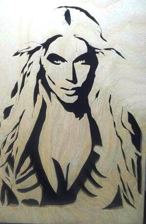 Portreti u drveturučni rad. Slike su velićine a-4 formata
