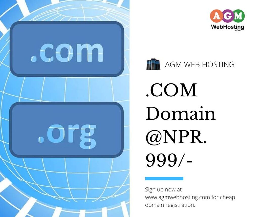 Buy Domain in Nepal with special offers -Agm Web Hosting