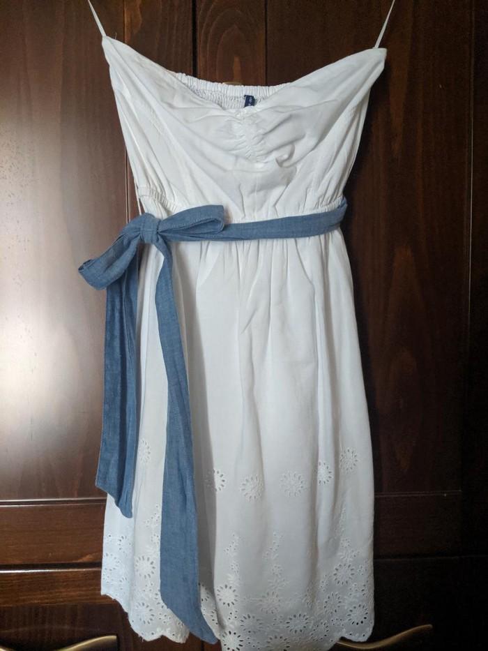 Λευκό φόρεμα STRADIVARIUS φορεμένο 1 φορά, ΚΑΙΝΟΥΡΓΙΟ!