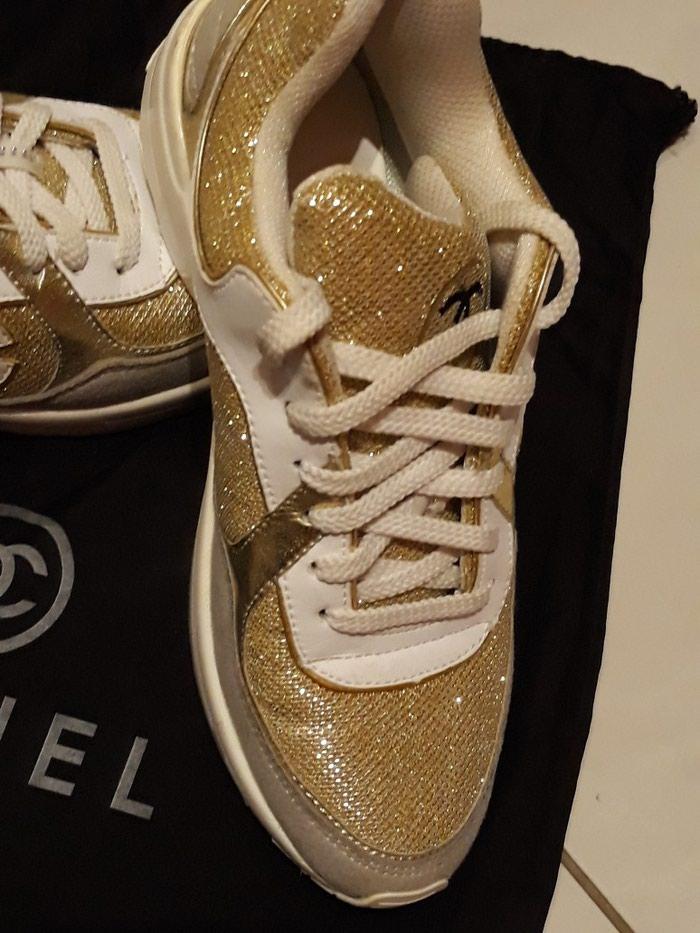 Παπούτσια αθλητικά τύπου Chanel, άριστη κατάσταση, νούμερο 37. Photo 2