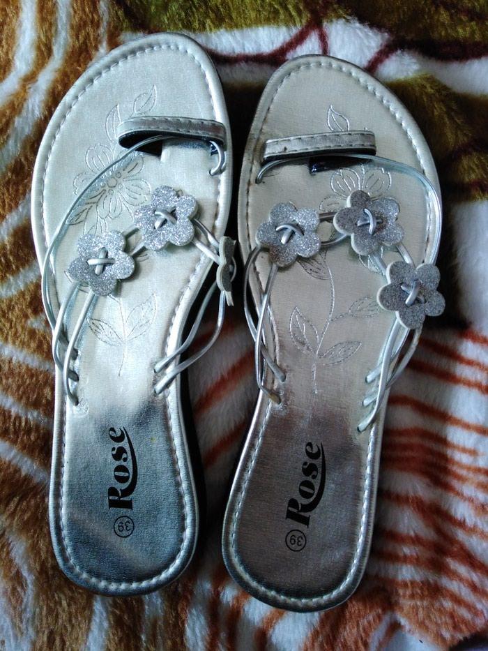 Srebrne papuce broj 39, jednom nosene. Photo 0