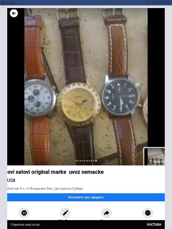 Novi satovi kupljeno u nemacko cena po dogovor ako se uzima sve za dalju prodaju  ili pojedinacno od 800 do 2000 hiljade zavisi koji sat