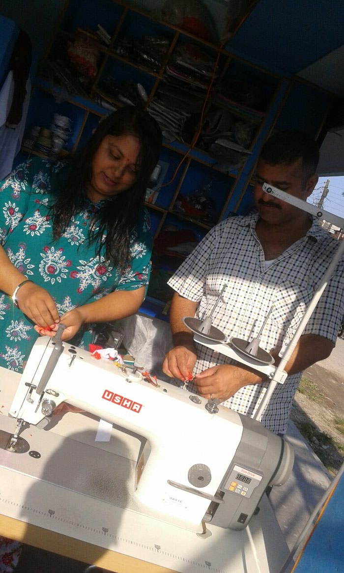Sewing in Bhadrapur