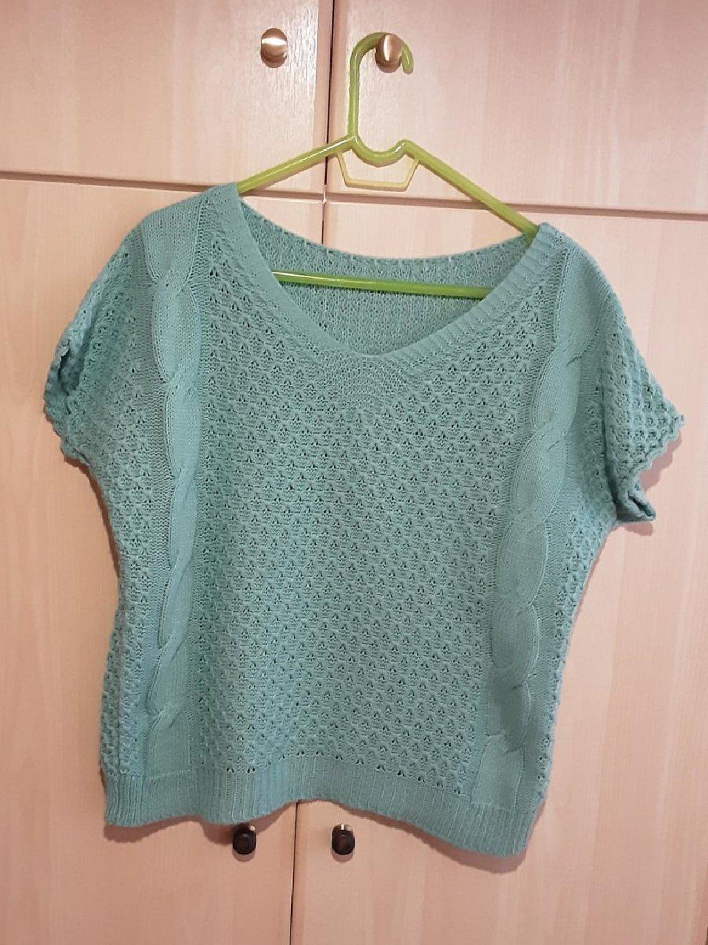 Αθλητικές φόρμες - Καματερó: Πλεκτή μπλούζα, One Size, χρώμα : βεραμάν, αφόρετη