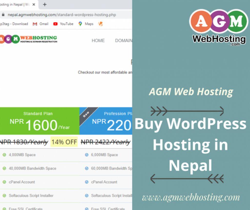 IT, Internet, Telekom - Kathmandu: Standard WordPress Hosting at Just NPR. 1600/Year. Don't get left behi