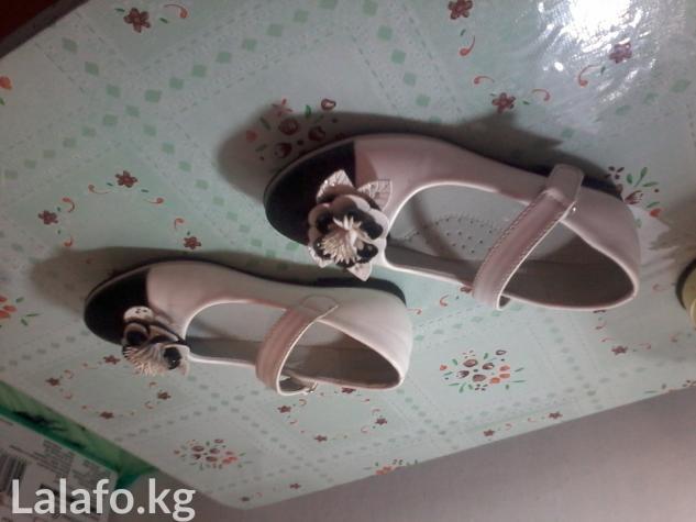 Туфли, черно белые, на липучке. НОВЫЕ. размер 35.  в Бишкек
