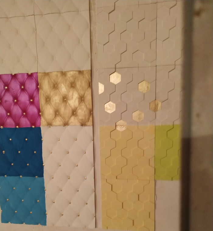3D панель 45 сомон квадрат . Photo 2