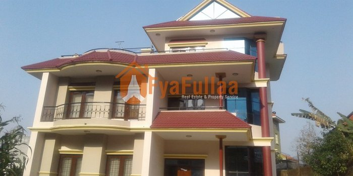 A strongly built bungalow house having land area 1-10-0-0 of 2.5 in Kathmandu