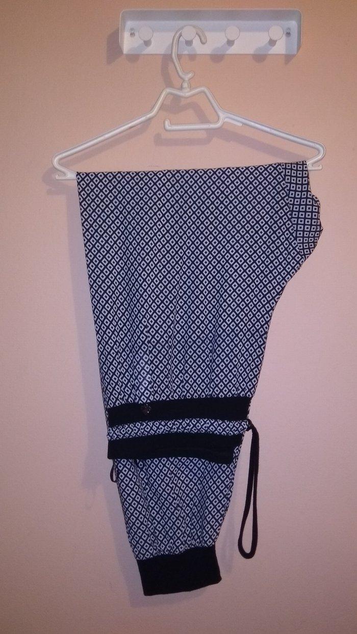 Σαλβάρι ασπρόμαυρο  μάρκας mat  σε πολύ καλή κατάσταση  νουμ. L. Photo 0