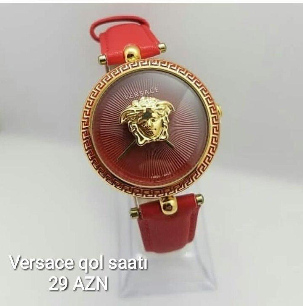 Qırmızı Qadın Qol saatları Versace