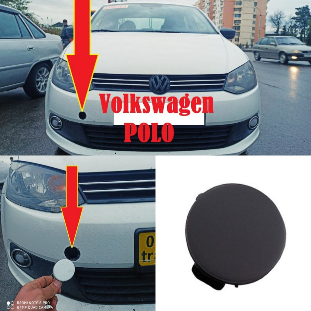 Буксировочная заглушка от Volkswagen Polo