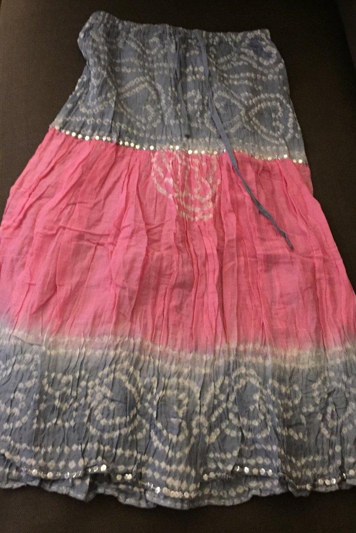 Φούστα βαμβακερι καλοκαιρινή με κορδόνι στη μέση . Boho με λιγες παγιε. Photo 1