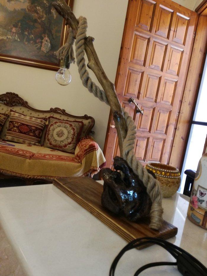 Ξυλινο φωτιστικο με θαλασσοξυλα. Photo 1