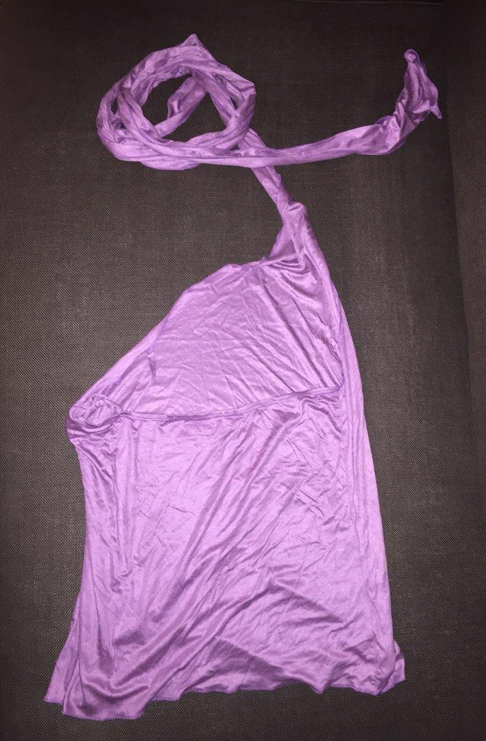 Nolita μωβ , εξώπλατη μπλούζα ,με έναν ώμο. Photo 2
