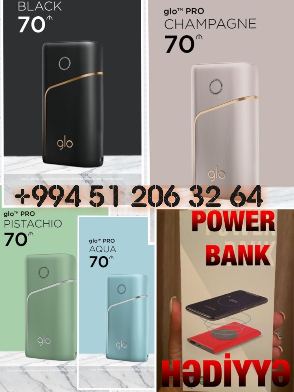 Glo pro + power bank hədi̇yyə