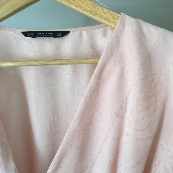 Zara Woman ροζ παλ κιμονο-μπλούζα με. Photo 5