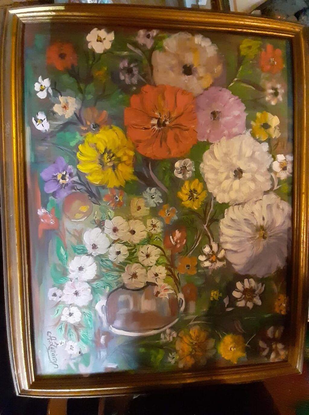 Πινακας ζωγραφικης.Συνθεση λουλουδιων