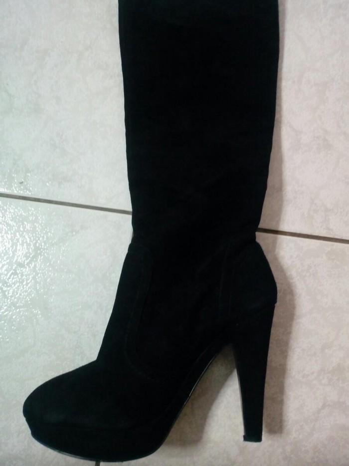 Μαύρη δερμάτινη μπότα σχεδον αφορετη αριστη κατασταση