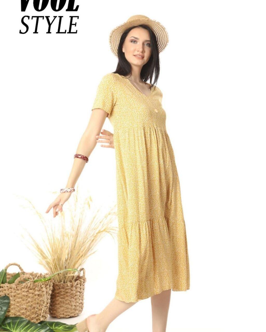 Лёгкое летнее платье с  принтом сердечек,самое то в летние жаркие дни