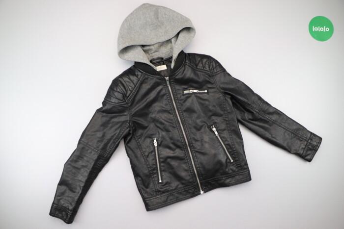 Підліткова шкіряна куртка з капюшоном H&M, вік 9-10 р., зріст 140: Підліткова шкіряна куртка з капюшоном H&M, вік 9-10 р., зріст 140