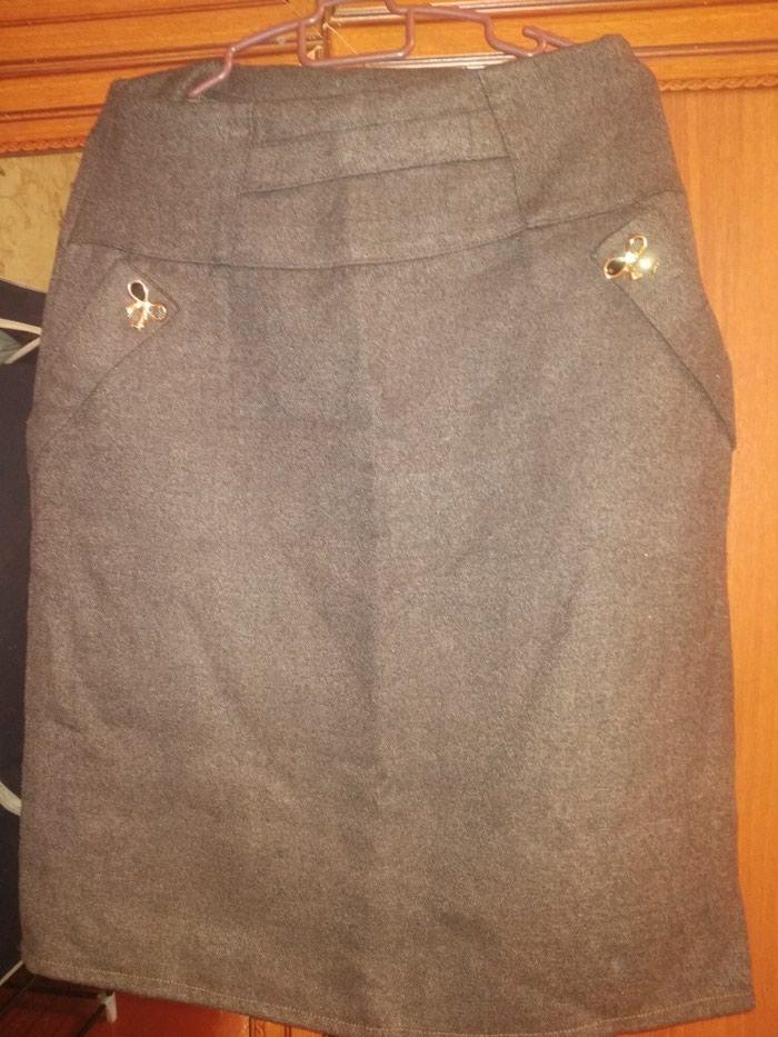 Теплая юбка до колена. Photo 1
