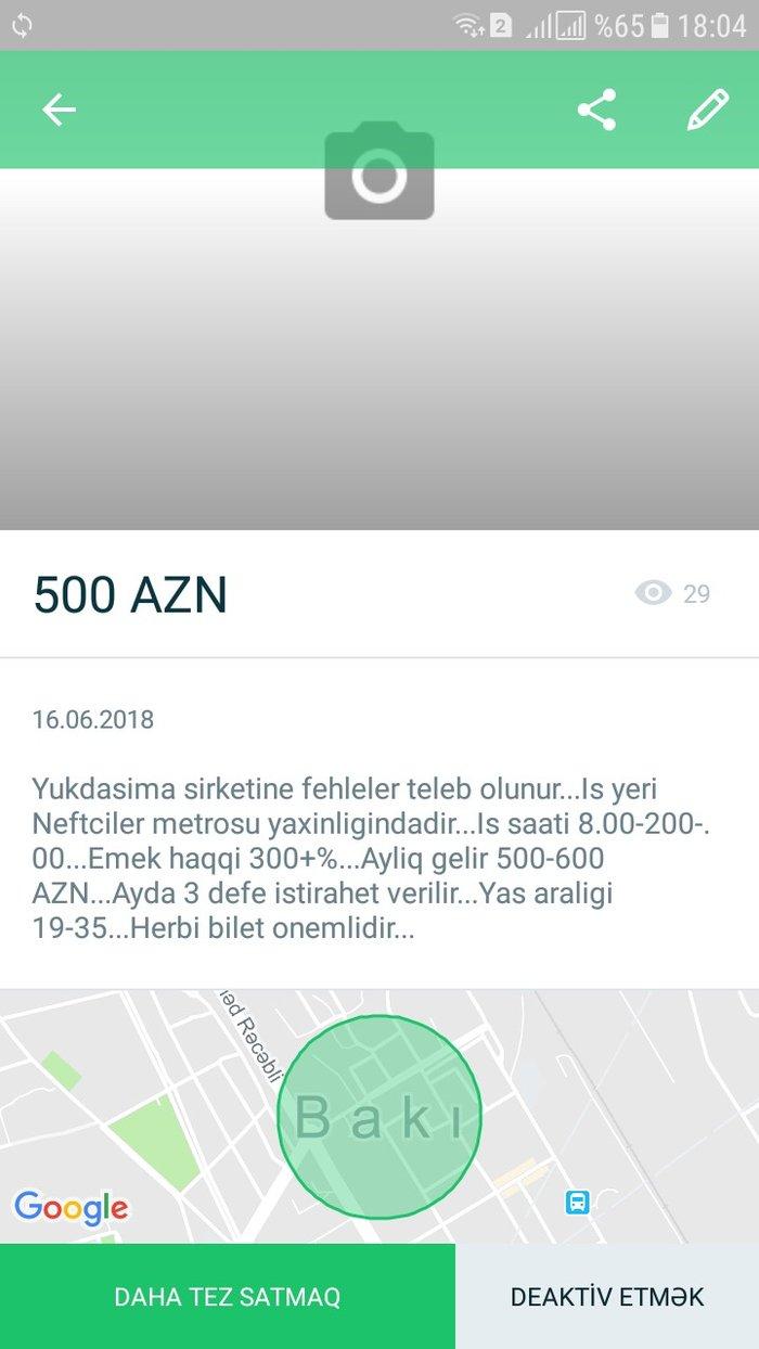 Bakı şəhərində Yukdasima sirketine fehleler teleb olunur...Is yeri Neftciler metrosu