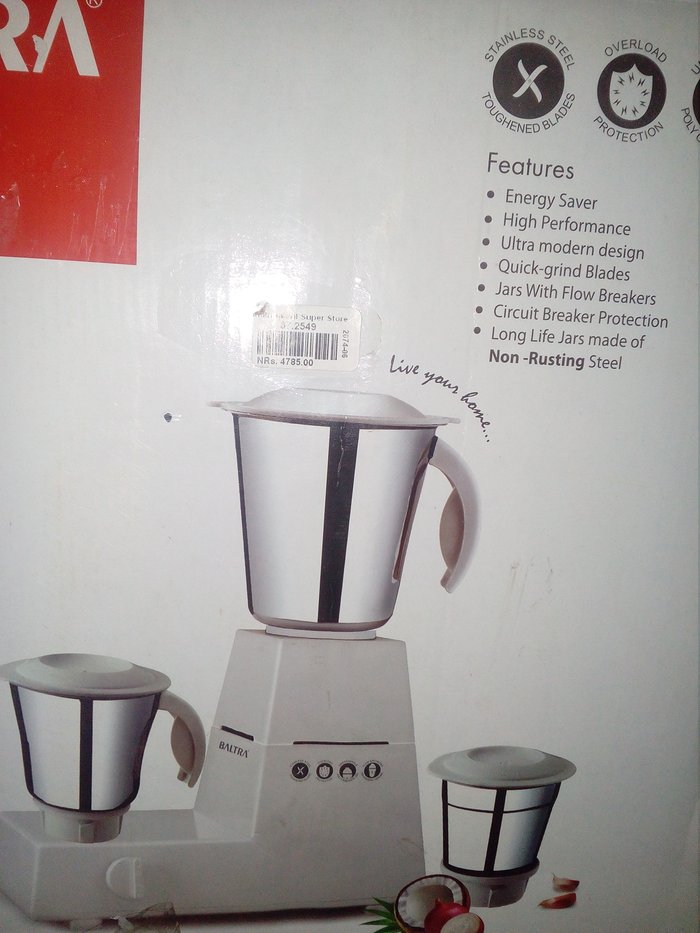3jar mixer glinder With 1 yr warranty card ...excellent in condition in Pokhara