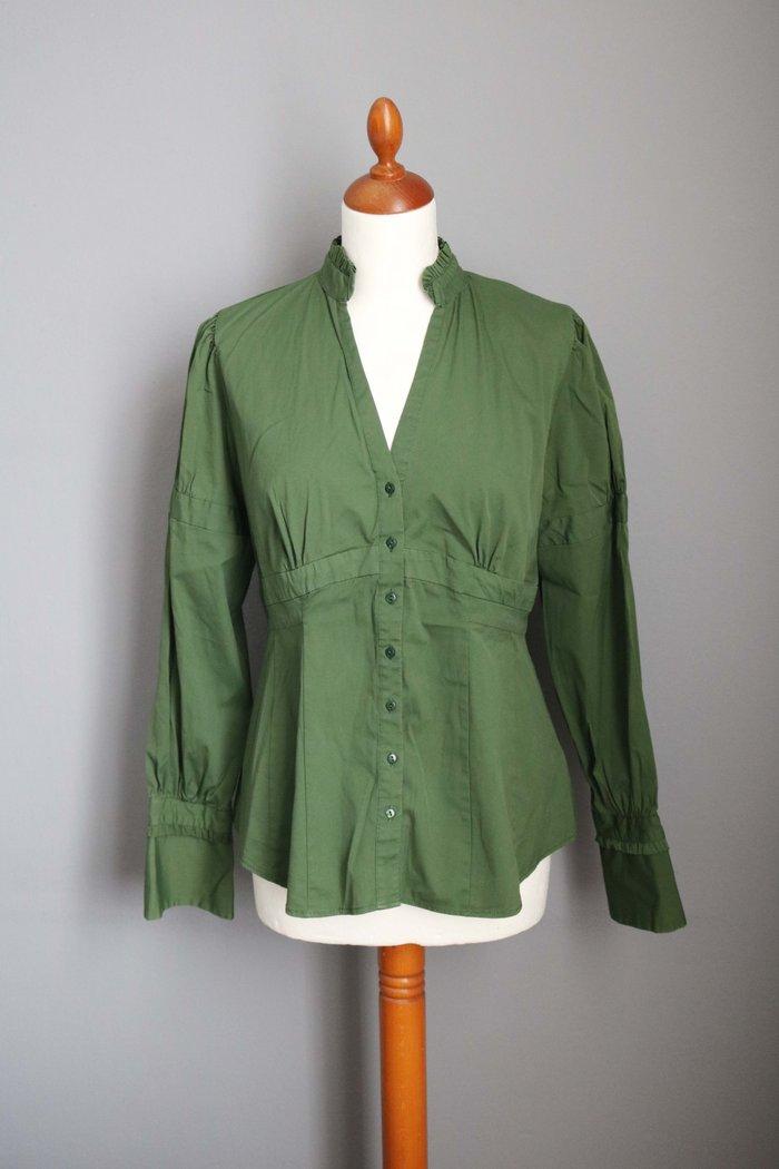 Zara πρασινο γυναικειο πουκαμισο