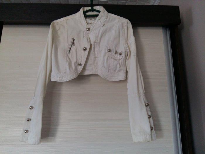 Teksas jakna bela, potpuno nova, bez ikakve greške, vel s - Novi Sad