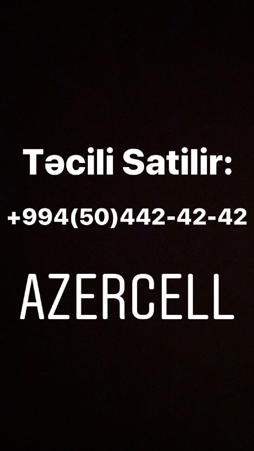 Azercell nomre Tecili satilir