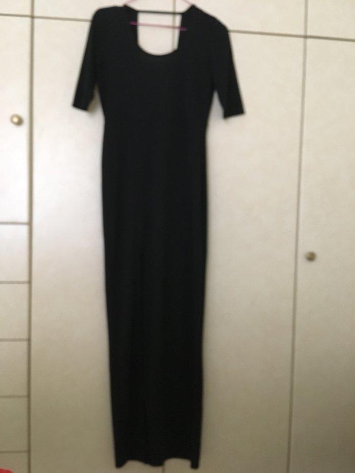 H&M μαξι φορεμα στενο μαυρο