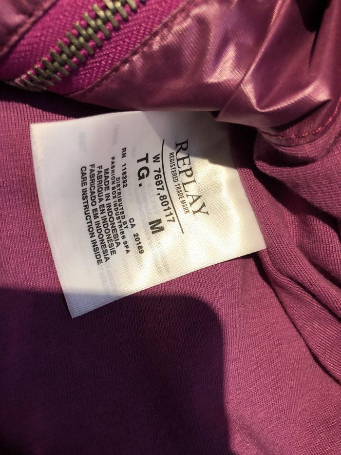 Μπουφαν γυναικειο replay μωβ χρωμα medium. Photo 2