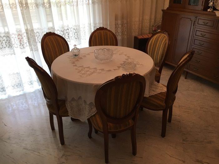 Ροτοντα μασίφ 1,14 με δυο προεκτασεις (46+46) και 8 καρέκλες . Photo 1