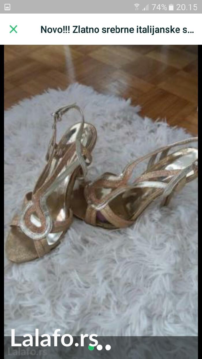 Nove!!!! Zlatno srebrne sandale FIRMIRANE br 36 prelepe - Beograd