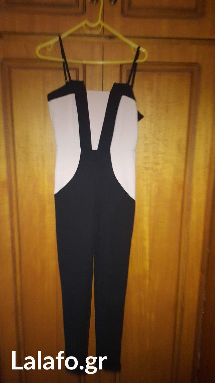 Jumpsuit μαυρη-ροζ nude one size ολοκαινουργια in Megala Kalyvia 124794e926f