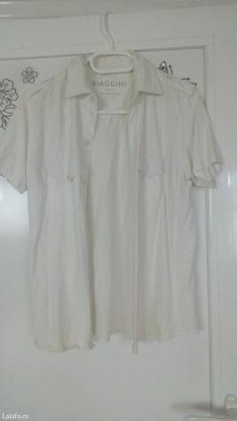 Biaggini muska bela košulja sa kratkim rukavima bez ostecenja vel s/m. - Smederevo