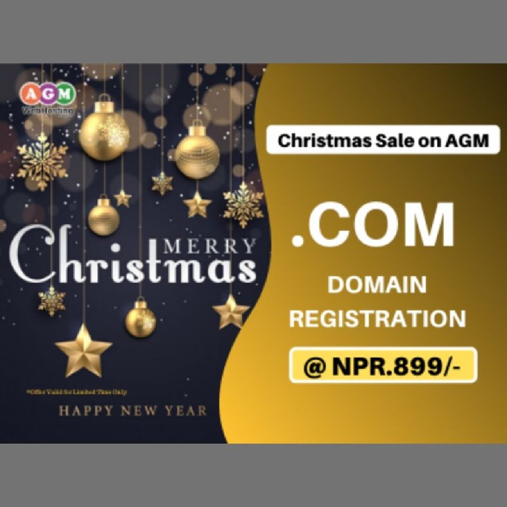 Now get Domain Name Registration Yes You Heard That Right! Exclusive Offer only @AGM_WEB_HOSTING