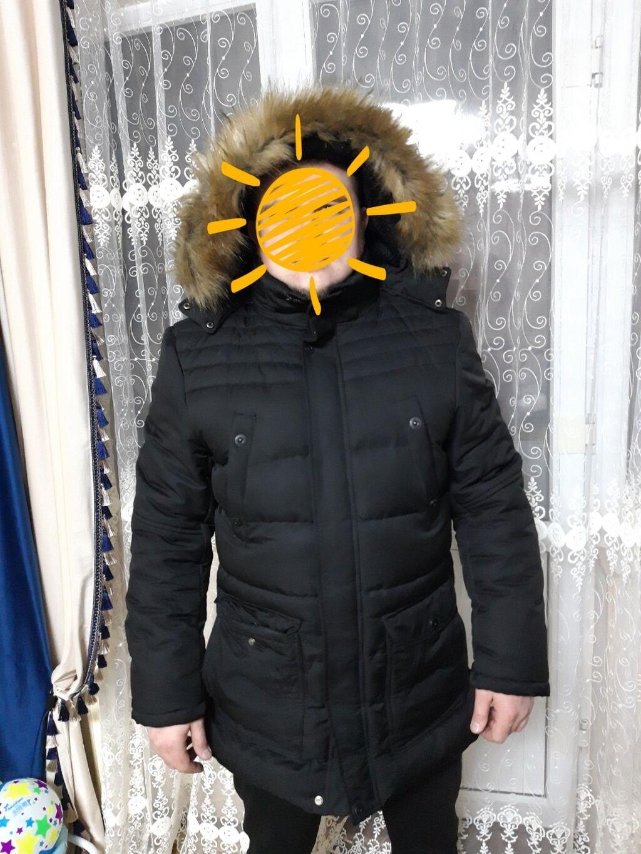Продаётся мужская зимняя куртка. Чёрного цвета, мех искусственный, оче: Продаётся мужская зимняя куртка. Чёрного цвета, мех искусственный, оче