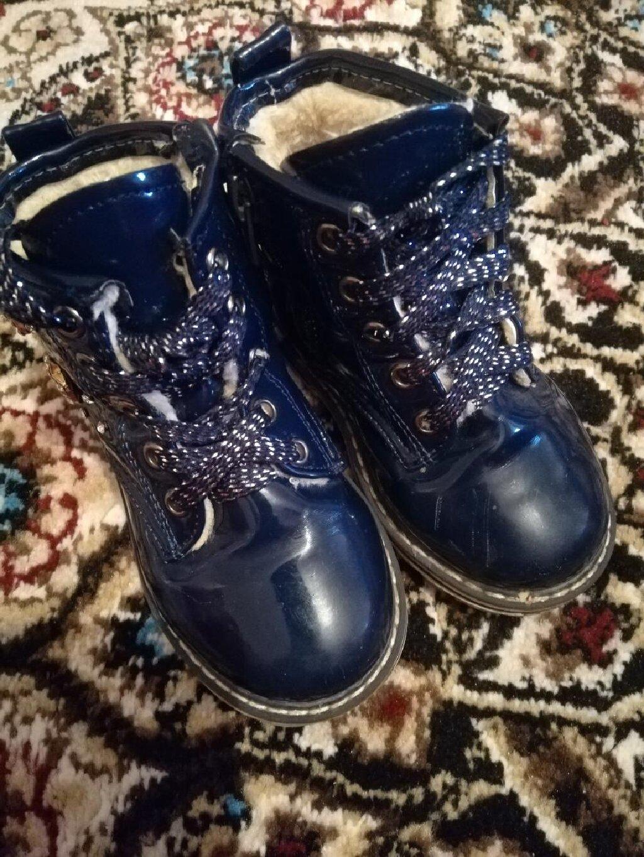 Зимние ботиночки для маленькой принцессы, состояние отличное, размер 23