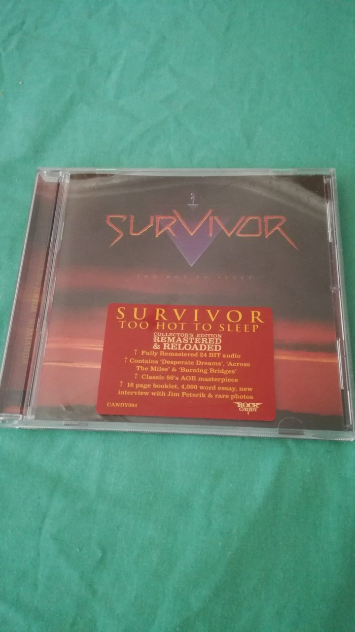 Survivor Too Hot To Sleep Rock Candy Remastered CD. Photo 0