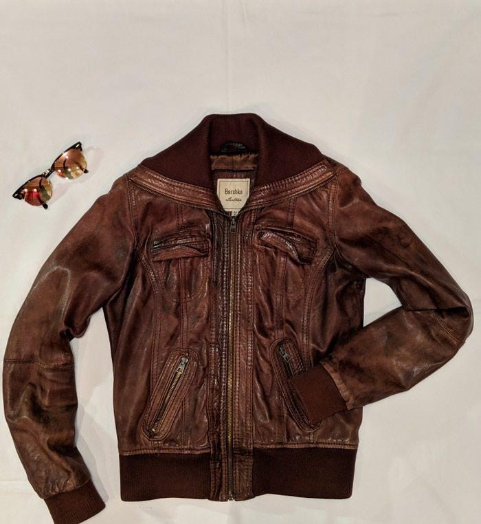 Γυναικείο Jacket από αληθινό δέρμα Bershka - M 28