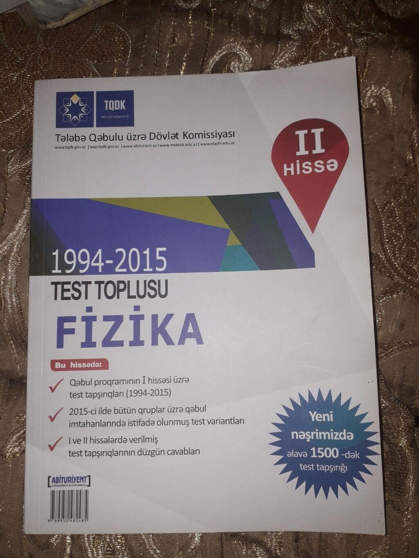 1994 2015 Fizika Test Toplusu Pdf Azərbaycanda Kitablar Jurnallar Cd Dvd Lalafo Da