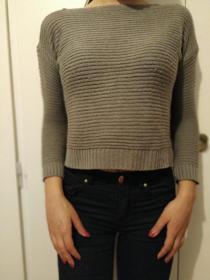 Προϊόν : γυναικείο τοπάκι πλεκτό χρώμα : γκρι νούμερο : medium. Photo 0