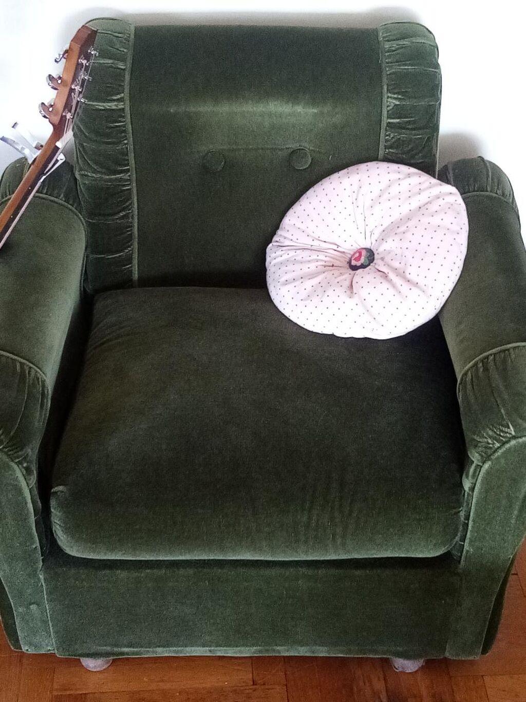 Πολυθρόνα πράσινη vintage