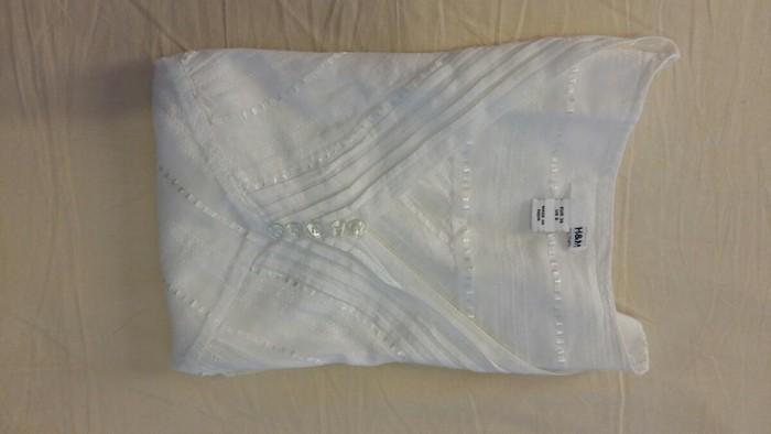 Μπλουζάκι αφόρετο,λευκό ,νούμερο 36. Photo 0