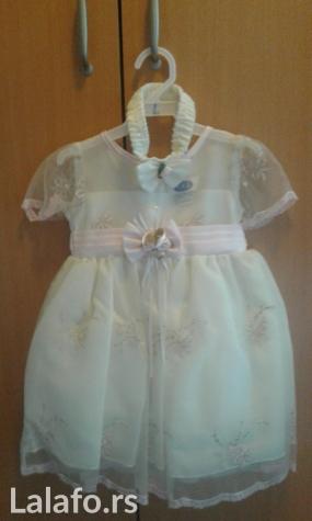 Svecana haljinica NOVA za uzrast dve godine ima i traka za kosu