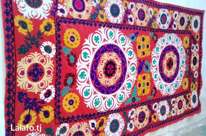 Старинное сюзане ручной работы на сатиновой основе. Размер: 2.75х в Душанбе