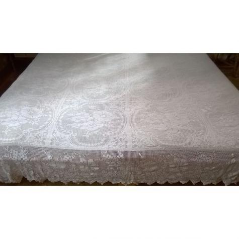 Χειροποίητη διπλή κουβέρτα με βελονάκι και λεπτό νήμα