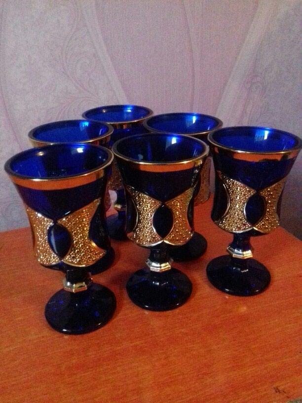 Красивые стаканы позолоченные. 6 шт. в Душанбе