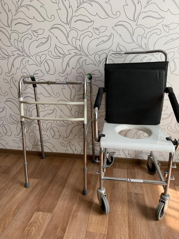 Коляска -туалет и ходунок. ...Для пожилых людей привезли из германии... Photo 0